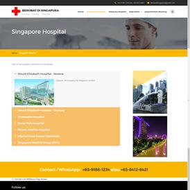 Hospital listing page