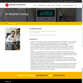 Doctor profile page
