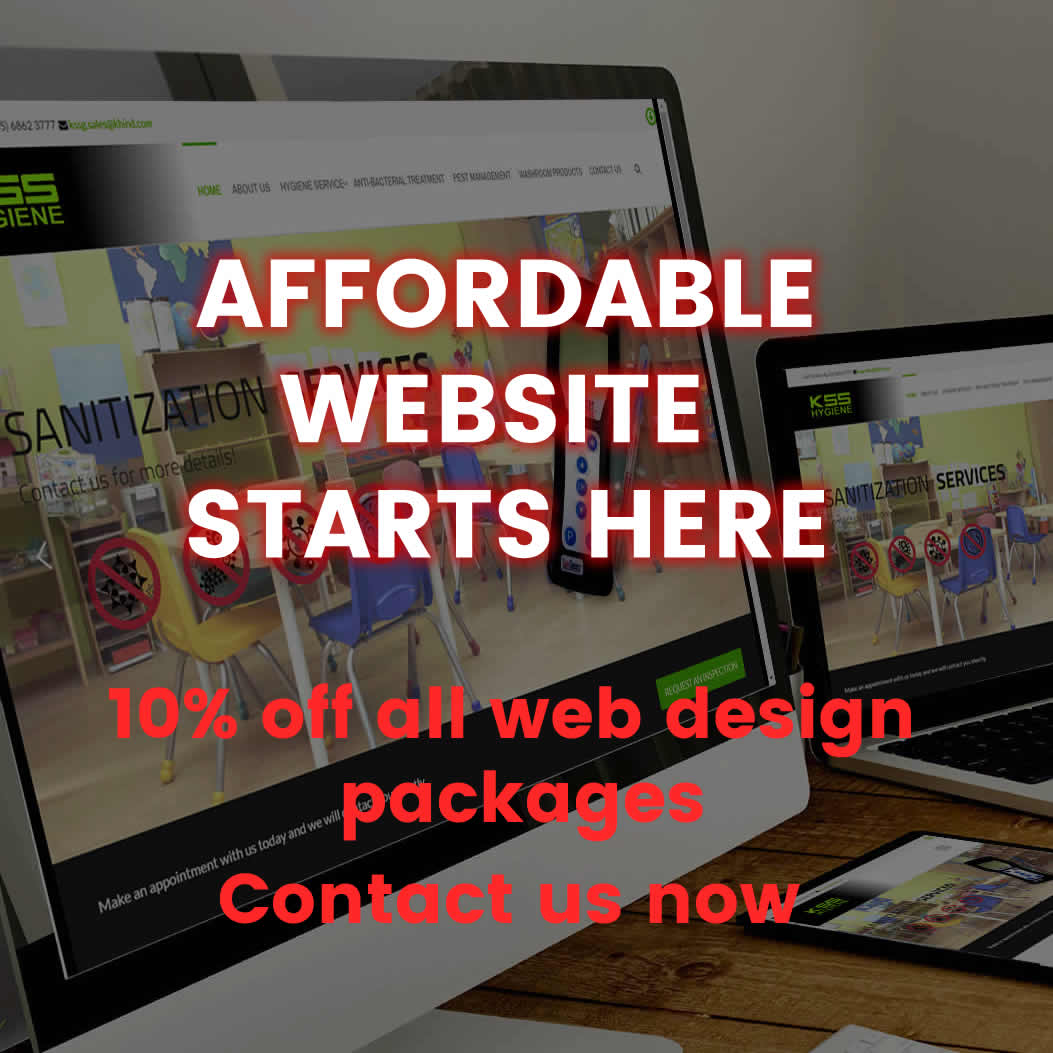 10% off all web design packages