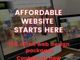 10% off Website Design Promotion